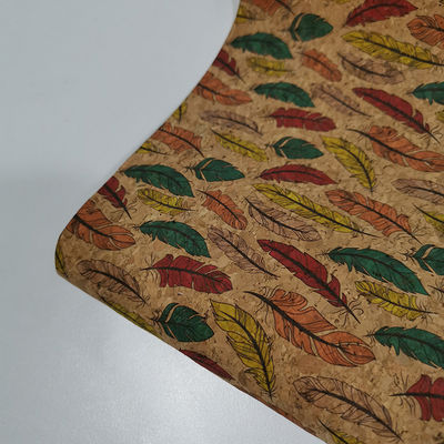 "Portugal Style Colorful Natural Printed Cork Fabric 51"" Width"