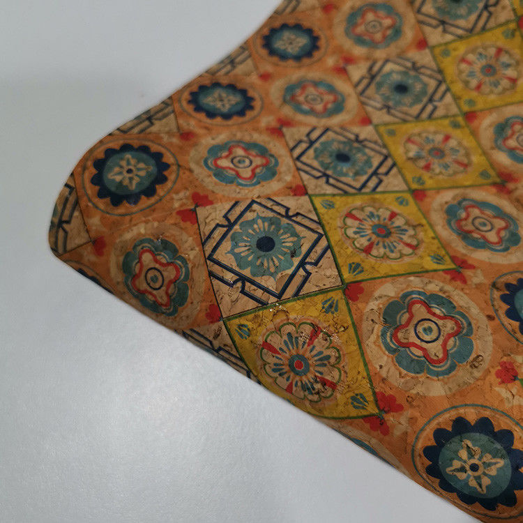 Eco Friendly Wallet Bag Printed Cork Fabric Portugal Pattern